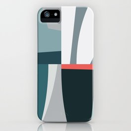 Organic Geometric 01 Blue iPhone Case