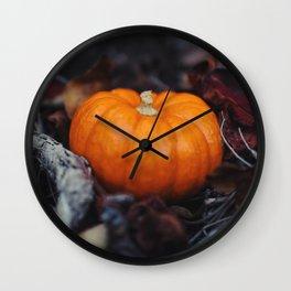 Mini Pumpkin Wall Clock