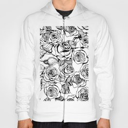 Hand drawn roses pattern Hoody