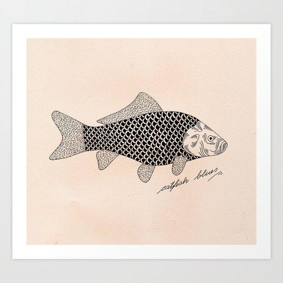 Catfish blues Art Print