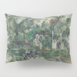 Classic Art At the Water's Edge Paul Cézanne Pillow Sham