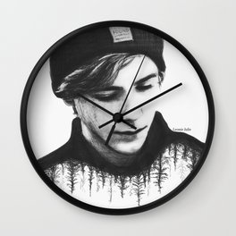 SKAM lost and found (b&w) Wall Clock