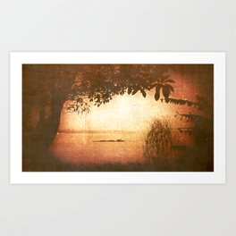 You can always count on the Red River Art Print