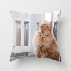 Here kitty Throw Pillow
