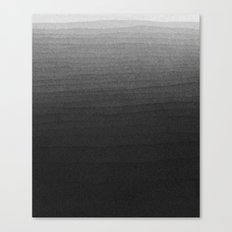 Black and White Ink Gradient  Canvas Print