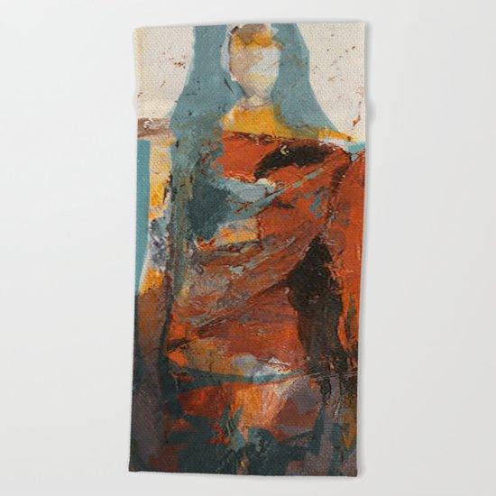 La Mujer y la Tierra Beach Towel