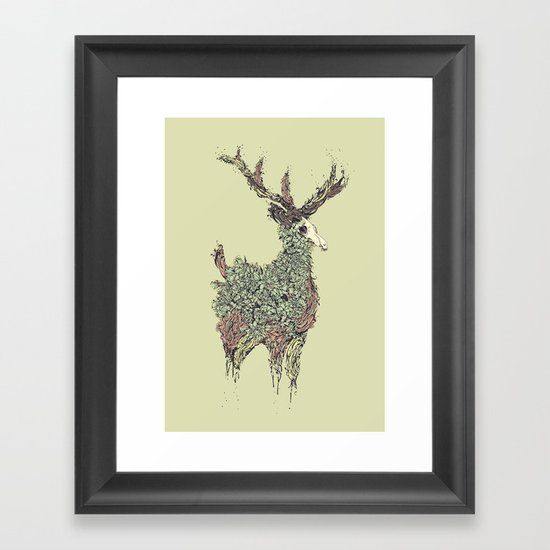 Beautiful Deer Old Framed Art Print