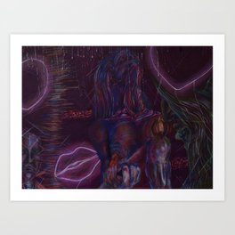 Neon Lights Art Print