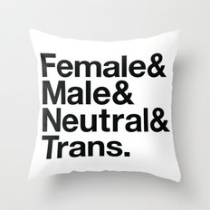 All Equal Genders Throw Pillow