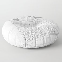 International Phonetic Alphabet Floor Pillow