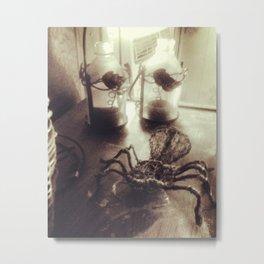 Wire Tarantula Metal Print