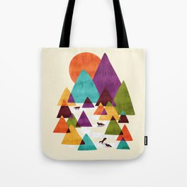 Fox Playground Tote Bag