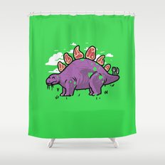 Steakosaurus Shower Curtain