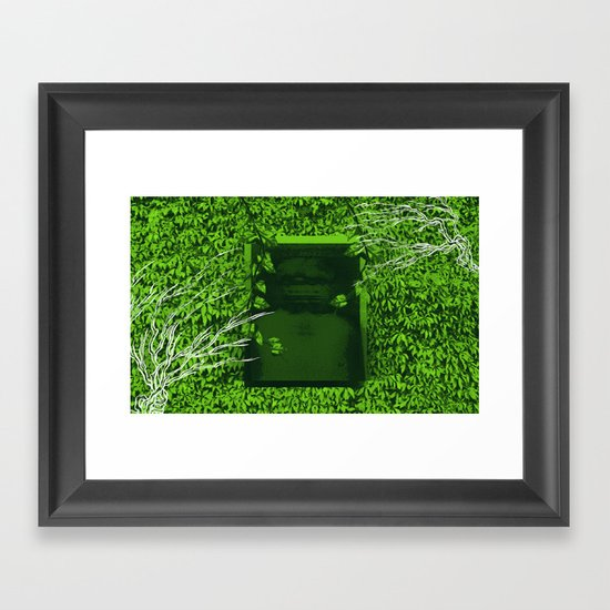 """Overgrown"" by Justin Hopkins Framed Art Print"