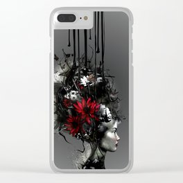 At war, looking for peace Clear iPhone Case