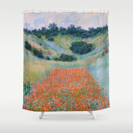 Poppy Field in a Hollow near Giverny Claude Monet Shower Curtain