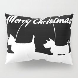 Westie White Christmas Pillow Sham