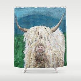 A Sweet Shaggy Highland Coo Shower Curtain