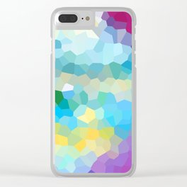 Sea coast - Abstract geometric background Clear iPhone Case