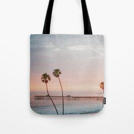 palm trees sunset vi / san clemente, california Tote Bag