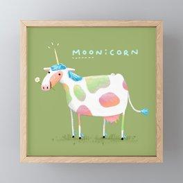 Moonicorn Framed Mini Art Print