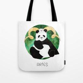 Panda Zodiac Aries Tote Bag