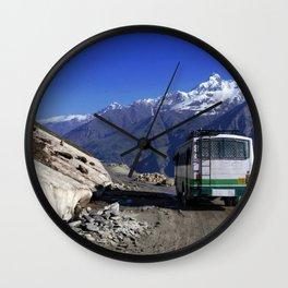 Bus Descending Rhotang Pass Wall Clock