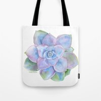 succulent Tote Bags featuring Succulent by Susan Windsor
