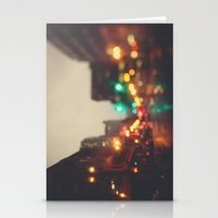 portland Stationery Cards featuring Portland In The Rain by Laura Ruth