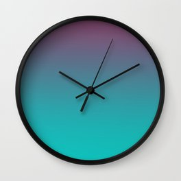 OCEANIC LOVE - Minimal Plain Soft Mood Color Blend Prints Wall Clock