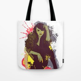 woman K. Tote Bag