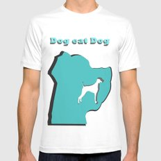 Dog eat Dog Mens Fitted Tee White MEDIUM