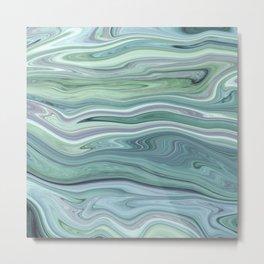 Marble light green Metal Print