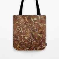 constellations Tote Bags featuring constellations by rysunki-malunki