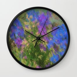 Larkspur and Poppys Wall Clock