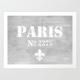 Paris No.2378 Art Print