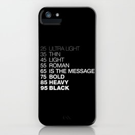 The Medium Is The Message iPhone Case