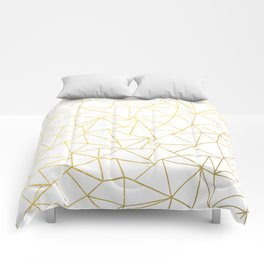 Ab Outline White Gold Comforters