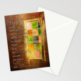 True Beauty Window with Quote Stationery Cards