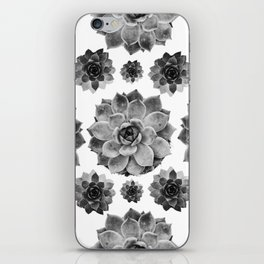 SUCCULENTS COLLAGE B&W iPhone Skin