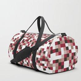 Red pixels Duffle Bag