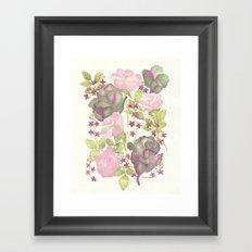 Autumn Bouquet - Kale & Rose Framed Art Print