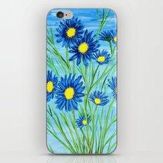 Blue Daisies  iPhone & iPod Skin