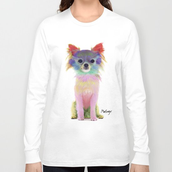 Colorful chihuahua Long Sleeve T-shirt