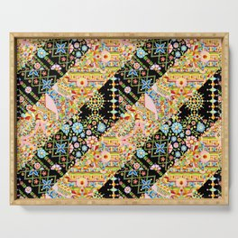 Crazy Patchwork Triangles Serving Tray