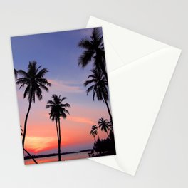 Tropical Purple Sunset Stationery Cards