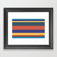 Color Band 70's - B - Stripe Framed Art Print