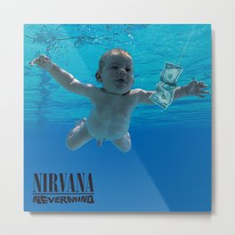 Nirvana - Nevermind Metal Print