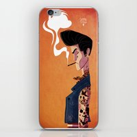 rockabilly iPhone & iPod Skins featuring Rockabilly Boy by quentinschall