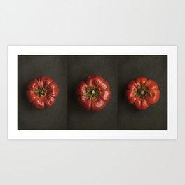 Pumpkin Chillies Art Print